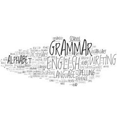 Grammar word cloud concept vector