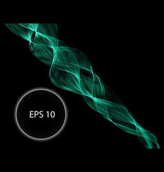 green flame curve layer overlap in dark background vector image