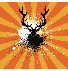 Grunge stag vector