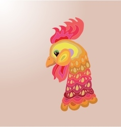 Head of cartoon rooster vector image