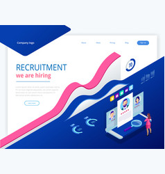 Isometric online job search and human resource vector