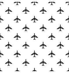 Jet plane pattern simple style vector