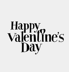 Lettering happy valentines day vector