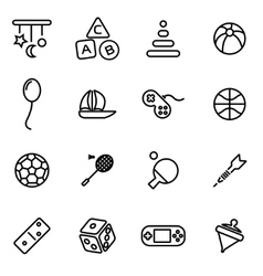 line toys icon set vector image
