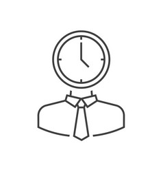man with clock head vector image