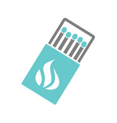 match icon on white background for graphic and web vector image