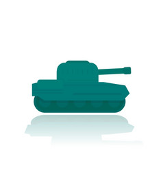 military tank flat style vector image