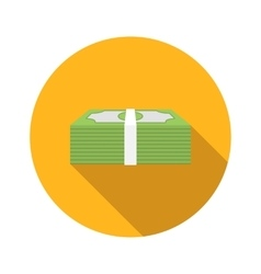 Money flat icon vector