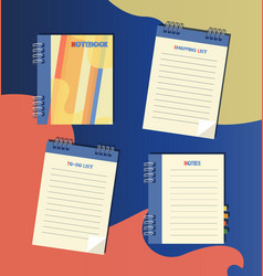 notepad shopping list to-do list notes vector image