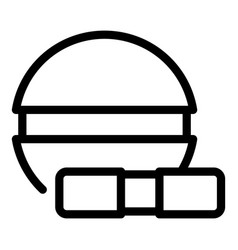 Painkiller pill icon outline style vector