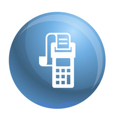 Payment terminal icon simple style vector