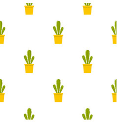 Potted cactus pattern seamless vector