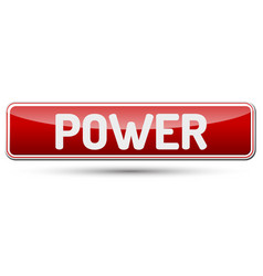 power - abstract beautiful button with text vector image