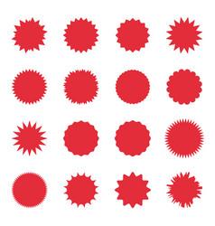 Promo sale starburst special offer sale label vector