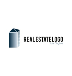 Real estate logo metallic vector
