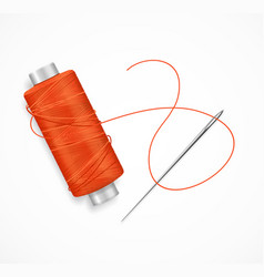 Realistic detailed 3d needle and thread vector