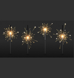 realistic sparkler party and birthday firework vector image