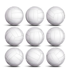 Realistic volleyball ball set classic vector