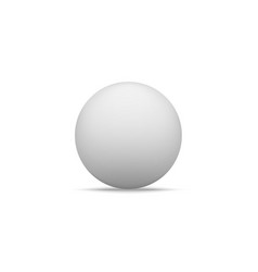 realistic white paper ball shape with shadow vector image