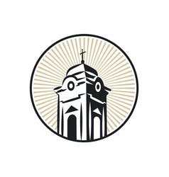 Roman catholic church tower vector