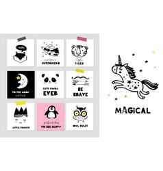 Scandinavian style simple design decor posters vector