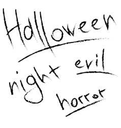 Scratched letters for Halloween design vector