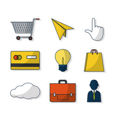 Set of digital marketing icons vector