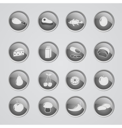 Set of foods indredients icons vector image