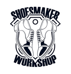 Shoes repair workshop vector
