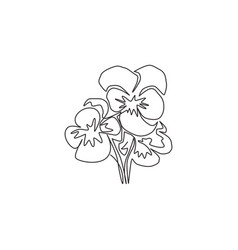 Single continuous line drawing beauty fresh vector