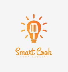 Smart cook logo vector