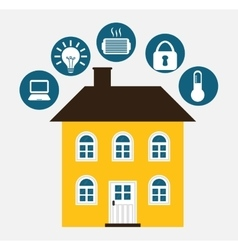 Smart house icon design vector