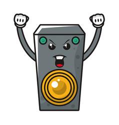 Speaker sound audio comic character vector
