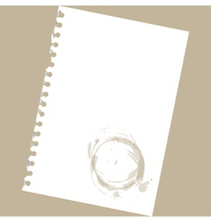 Stained notepad paper vector image