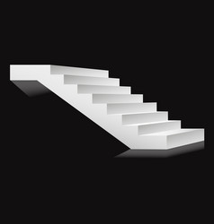 stairs or staircases and podium ladder vector image