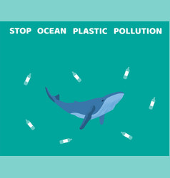 stop ocean pollution vector image