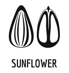 sunflower seed icon simple style vector image