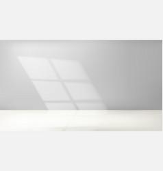 Sunlight in bright grey room vector
