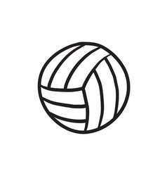 Volleyball ball sketch icon vector