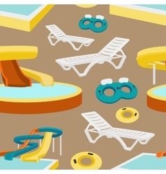 Water amusement park pattern vector image