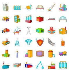 windmill icons set cartoon style vector image