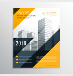 yellow and black business brochure design template vector image