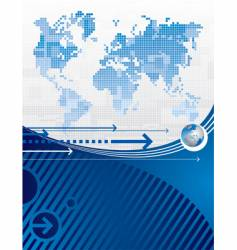 background with a world map vector image