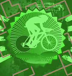 cyclist vintage design vector image