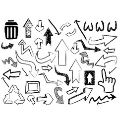 doodle arrow sign background vector image