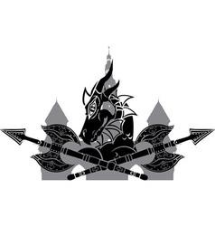 dragon town vector image vector image