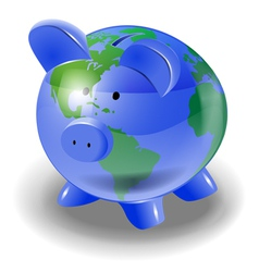 saving world vector image vector image