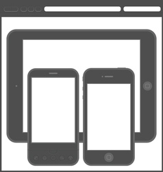 smartphone layout vector image vector image