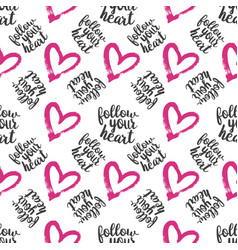 seamless pattern from hearts on white vector image vector image