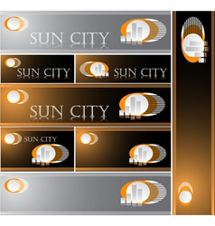 Sun City vector image
